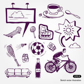 Rest and vacation icons set — Stock Vector