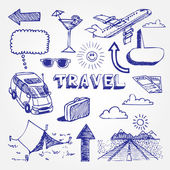 Travel icons set — Stock Vector