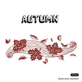 Autumn leaves and wind — Stock Vector
