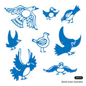 Birds set — Stock Vector