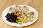 Healthy macrobiotic meal. — Stock Photo