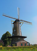 Dutch windmill — 图库照片