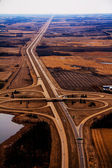 Aerial Highway Cloverleaf — Stock Photo