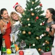 Stock Photo: Christmas party