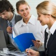 Business team at meeting — Stock Photo #10709458