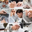 creatieve business collage — Stockfoto