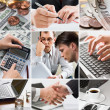 Stock Photo: Creative business collage
