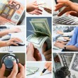 Conceptual business collage - Stock Photo
