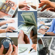 Conceptual business collage — Stock Photo