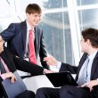 Three business men — Stock Photo