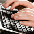 Royalty-Free Stock Photo: Typing a letter