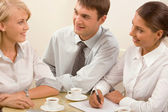 Reunião informal de negócios — Fotografia Stock