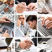 Colagem de negócios criativos — Fotografia Stock