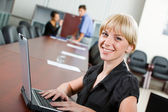 Smiling specialist — Stock Photo