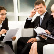 Stock Photo: Business interaction