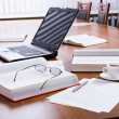 Closeup of several business objects on the table — Stock Photo #10710194