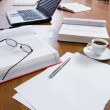 Closeup of several business objects on the table — Stock Photo