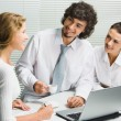 Business team at meeting — Stock Photo #10710212