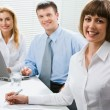 Confident businesswoman in the office — Stock Photo