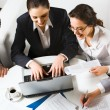 Image of business working at meeting — Stock Photo