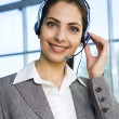 Woman Wearing Headset — Stock Photo #10710439