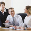 Business talking at the workplace — Stock Photo #10710477