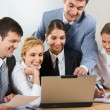Stock Photo: Group of business working at meeting