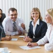 Group of business working at meeting — Stock Photo #10710531