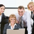 Group of business working at meeting — Stock Photo #10710533