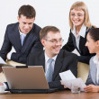 Group of business working at meeting — Stock Photo #10710558
