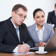 Group of business working at meeting - Stock Photo