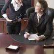 Secretary and boss — Stock Photo #10710585
