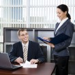 Secretary and boss — Stock Photo #10710637