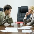 Tense negotiations - Foto Stock