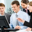 Group of business working at meeting — Stock Photo #10710761