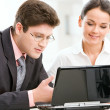 Portrait of two business working together — Stock Photo