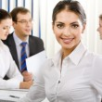 Elegant female business leader — Stock Photo