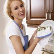 Stock Photo: Happy housewife