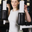 Go in for sport in the gym - Stock Photo