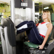 Training in gym — Stock Photo #10712480
