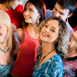 Interaction at a party — Stock Photo