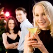 Woman at a party — Stock Photo