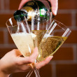 Royalty-Free Stock Photo: Pouring a champagne