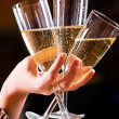 Three glasses of champagne — Stock Photo #10712828