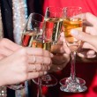 Royalty-Free Stock Photo: Toast with champagne