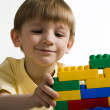Portrait of a little boy with constructor — Stock Photo
