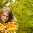 Girl with leaves — Stock Photo #10713268