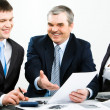 Discussing documents — Stock Photo #10713755