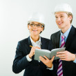 Portrait of contractors planning a new architectural project — Stock Photo #10714136
