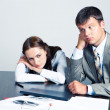 Pensive businesspeople — Stock Photo